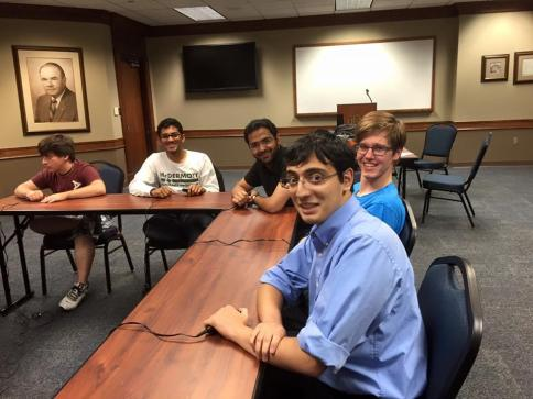 From left: Dhruv ('14 Scholar), Divas, me, Kevin at UCO.