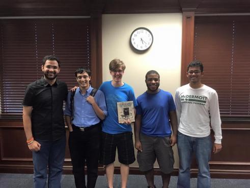 From left: Divas, Kevin, me, Scotty ('14 Scholar), Dhruv ('14 Scholar)