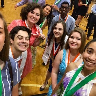 Selfies for honors graduation...